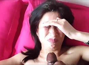 Mature mom massive facial