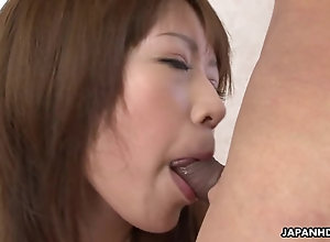 Fantastic and alluring Asian call-girl takes a hard shaft deep in