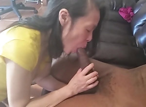 Loves suckling that 12 inch BBC