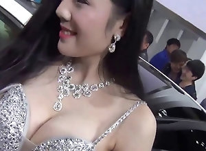 Chinese auto show girl nipple slip