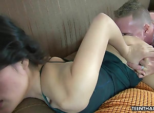 Foot fetish romp with a very hot Asian lady