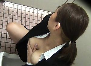 Hairy asian masturbating