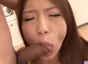 Young Aoi Yuuki mouths dick until enclosing unseeable to jizz
