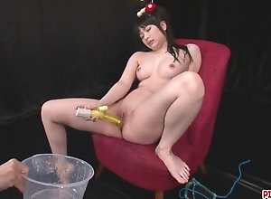 Hina Maeda Masturbates And Has Three Guys spunk For Her