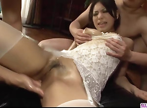 Supreme Asian threesome along Kanade Otowa