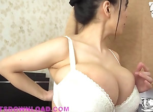 Busty asians undressing her huge boobs