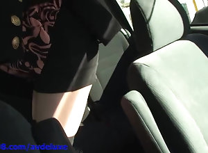 Avdeluxe shows you fuck stick the slit in car.