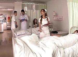 Japanese youthful Nurse masturbating