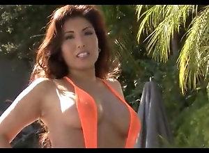 BikiniRiot-Akira Lane orange Fishnet Slng