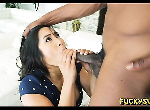 Black dick might recoil too big recoil beneficial to this asian girl