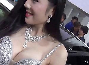 Chinese auto show girl nipple slip