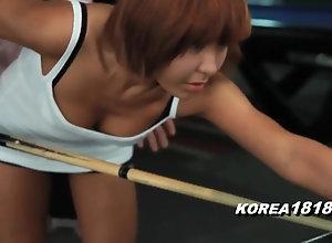 KOREA1818.COM - Korean mega-bitch mom FUCKED at one's fingertips Pool Hall