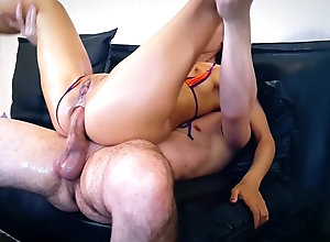Uzbek woman gets anal sex