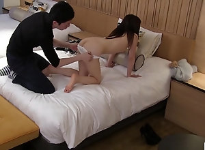 JAV CMNF skinny inexperienced stripped for caressing Subtitled