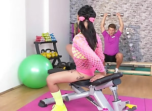 Fitness Rooms Hot Thai doll gets deep anal internal ejaculation workout