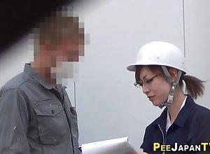 Japanese ho pisses pants