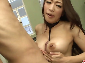 Superb cougar Reiko Kobayakawa hard plaything bang-out on cam