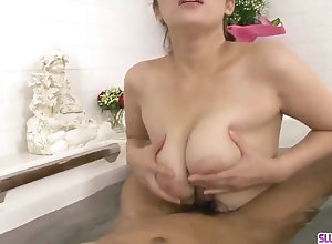 Meisa Hanai uses her humungous tits to deal trouser snake during complete